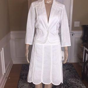 Nine & Company Lace White Skirt Set Size 6